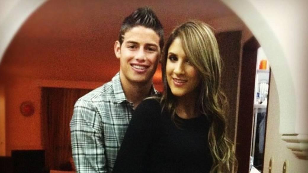 James Rodríguez, futbolista, y Daniela Ospina, modelo.