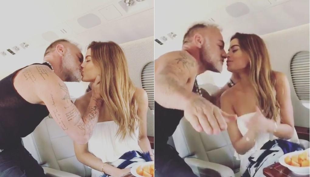 Gianluca Vacchi, 'el Millonario de Instagram', y Ariadna Gutiérrez, exreina.