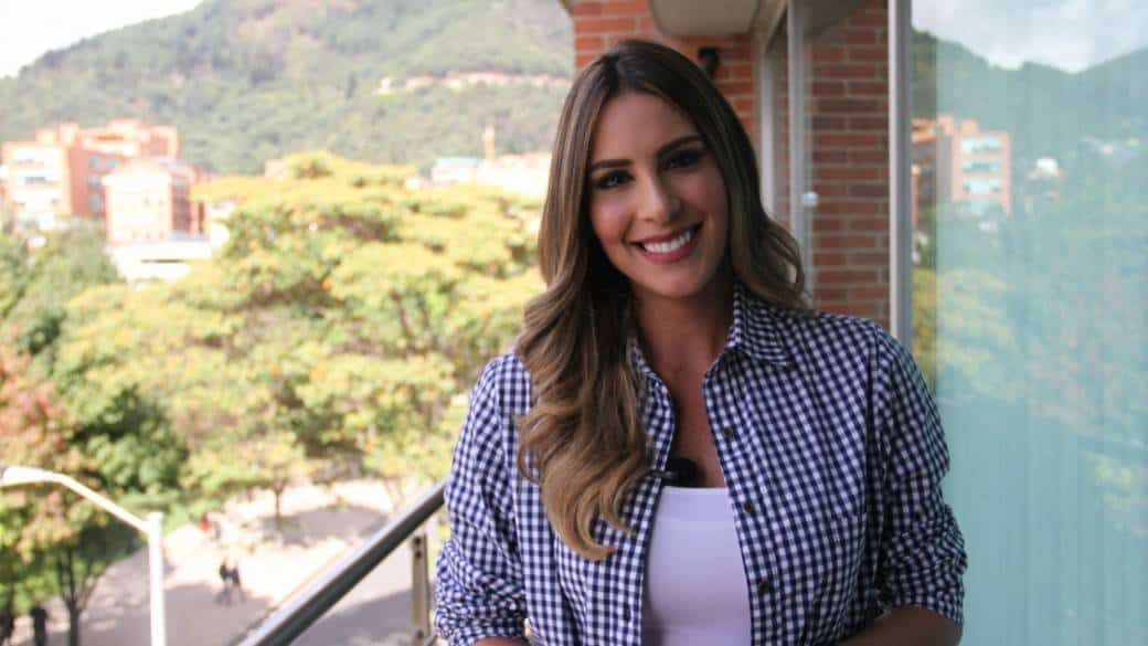 Carolina Soto, presentadora.