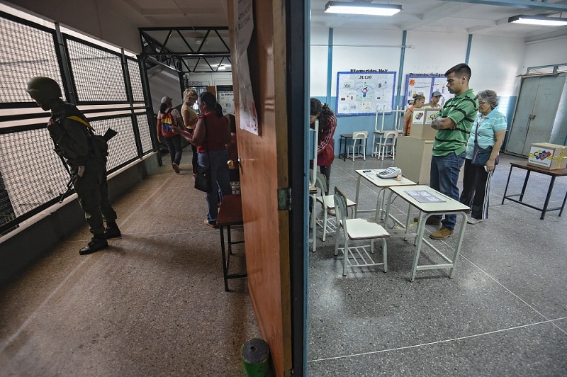 Centro de votación en Caracas, Venezuela