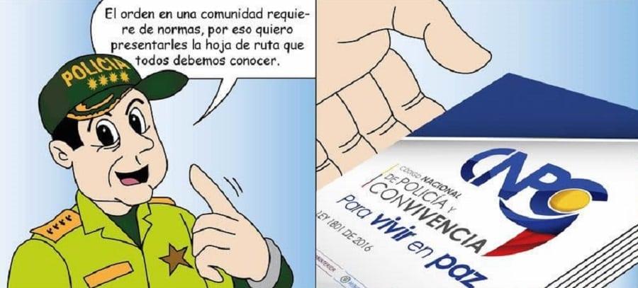 Caricatura de la Policía Nacional