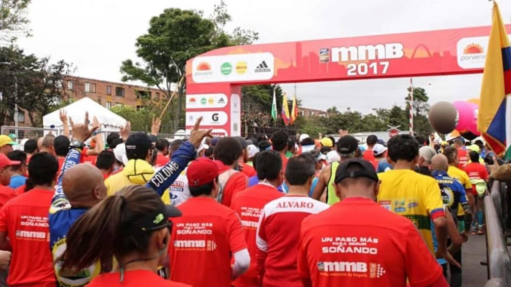 Atletas Media Maratón de Bogotá