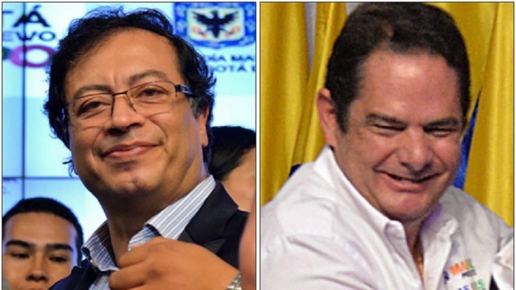 Gustavo Petro y Germán Vargas Lleras