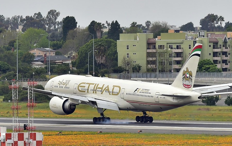 Avión de Etihad Airways