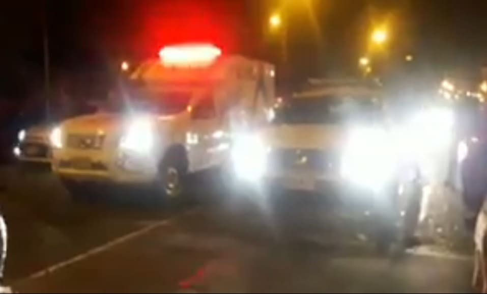 Ambulancia en pique ilegal