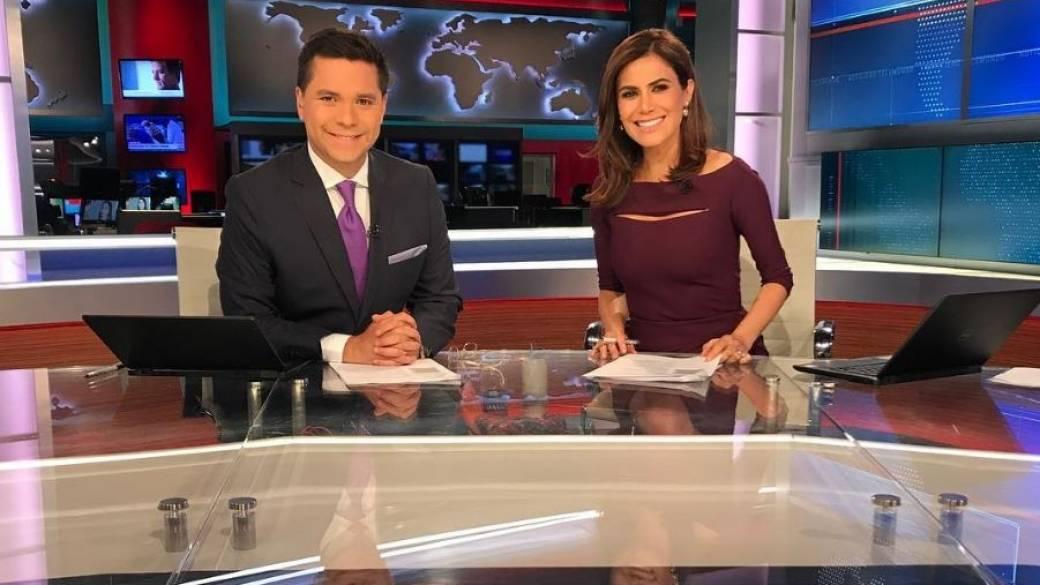 Luis Carlos Vélez y Felicidad Aveleyra, presentadores.