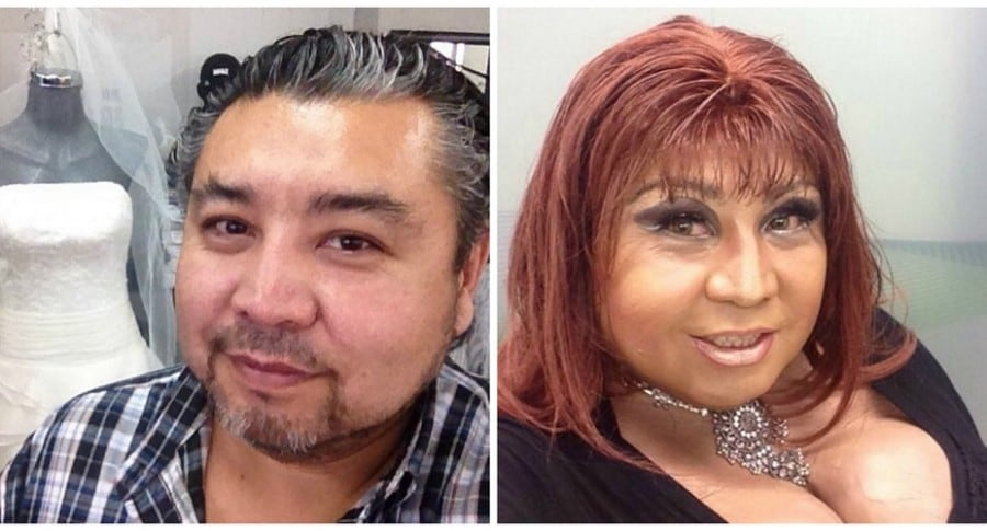 Roberto Tello de 'Dos mujeres, un camino' ahora se viste como mujer