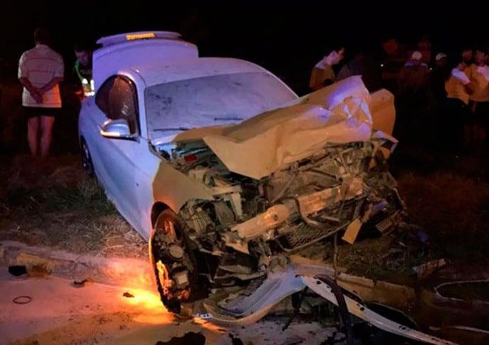 Vehículo que se chocó en Jamundí, Valle del Cauca. Pulzo.
