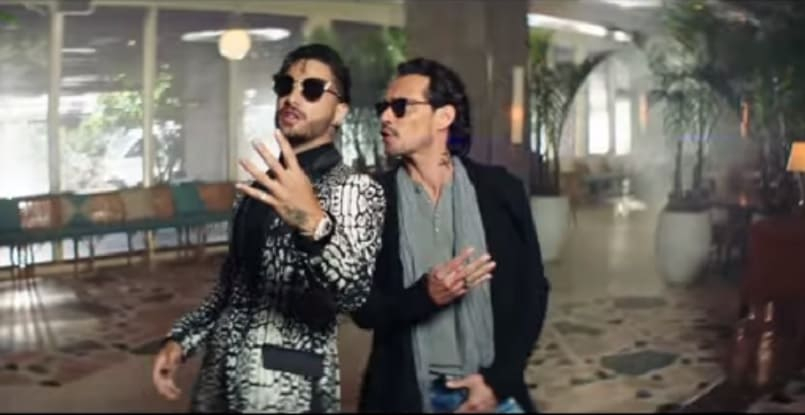 Maluma y Marc Anthony, cantantes.