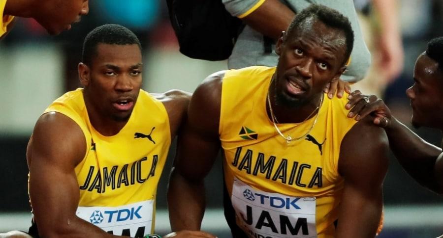 Yohan Blake y Usain Bolt