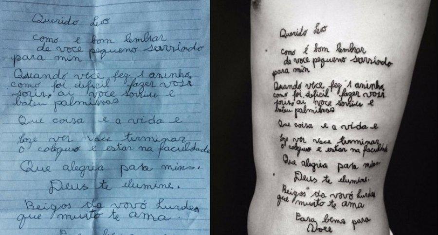 Tatuaje de Leonardo Martins