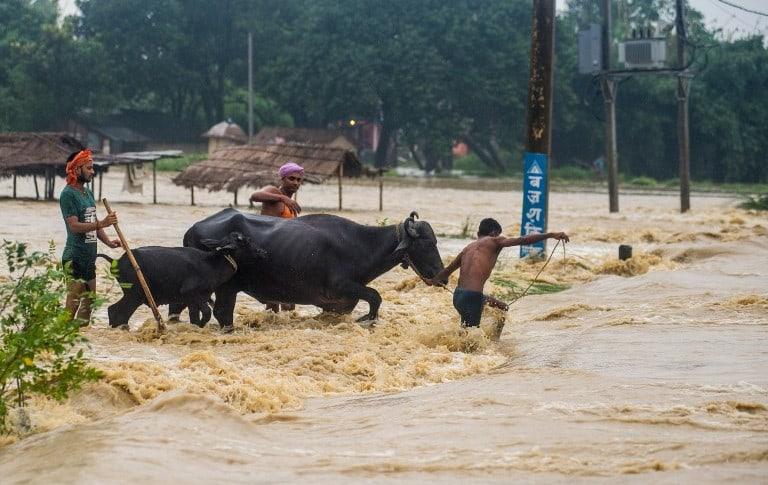 Inundaciones en Nepañ