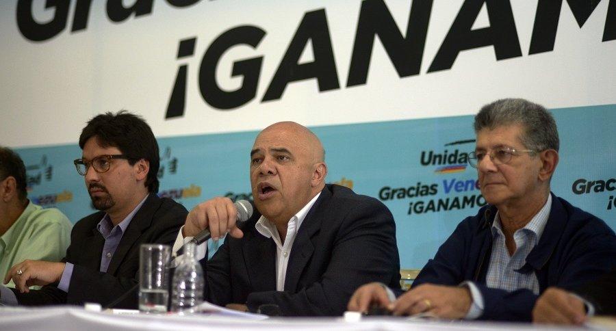 Integrantes de la Mesa de Unidad Democrática