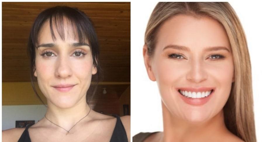 Actrices Cecilia Navia y Alexandra Serrano. Pulzo.