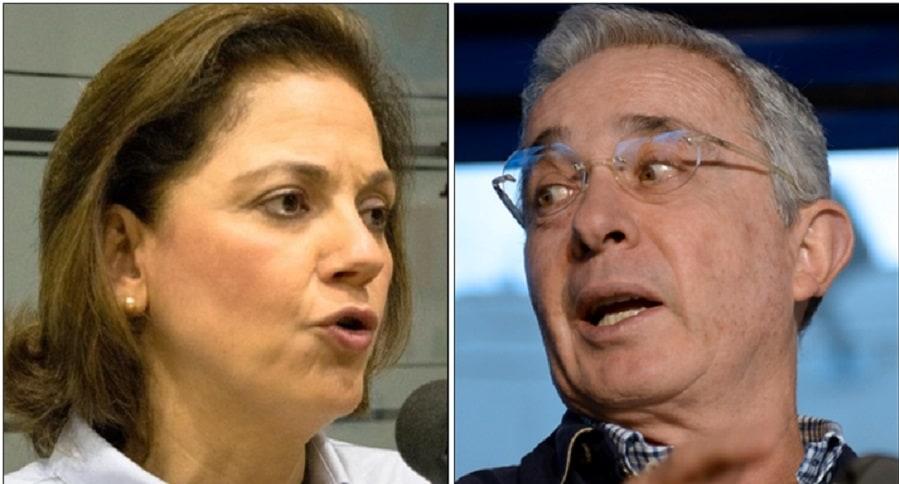María del Rosario Guerra y Álvaro Uribe