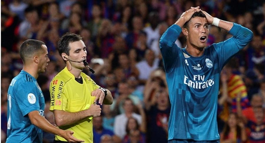 Cristiano Ronaldo expulsado en Supercopa