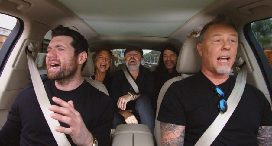 Metallica canta Rihanna en Carpool Karaoke