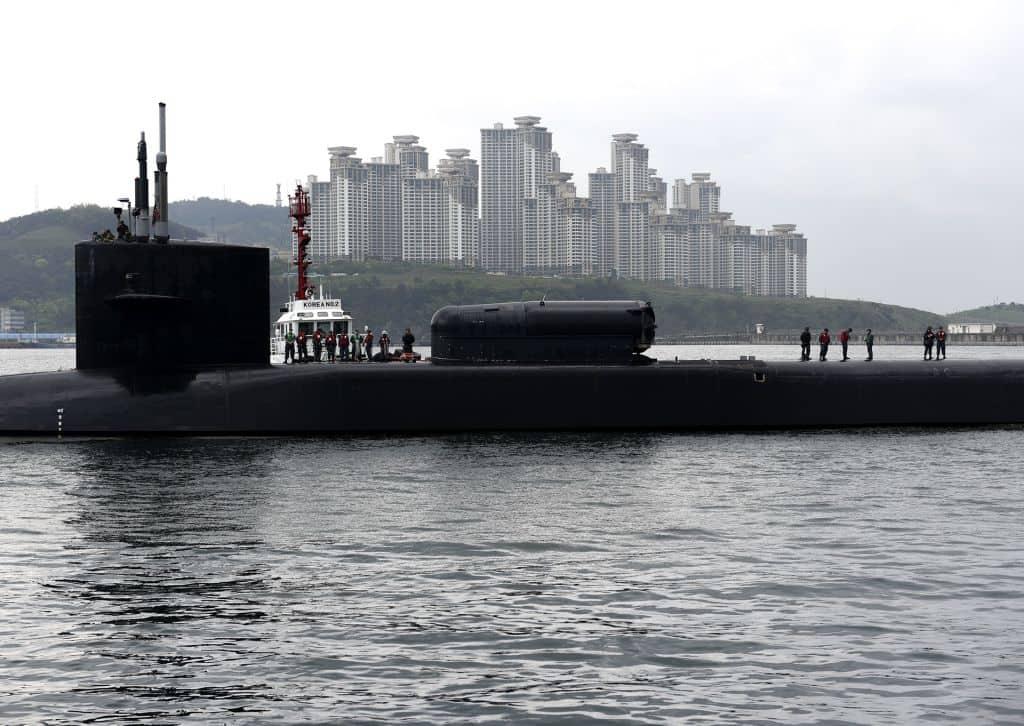 Submarino estadounidense en Corea del Sur