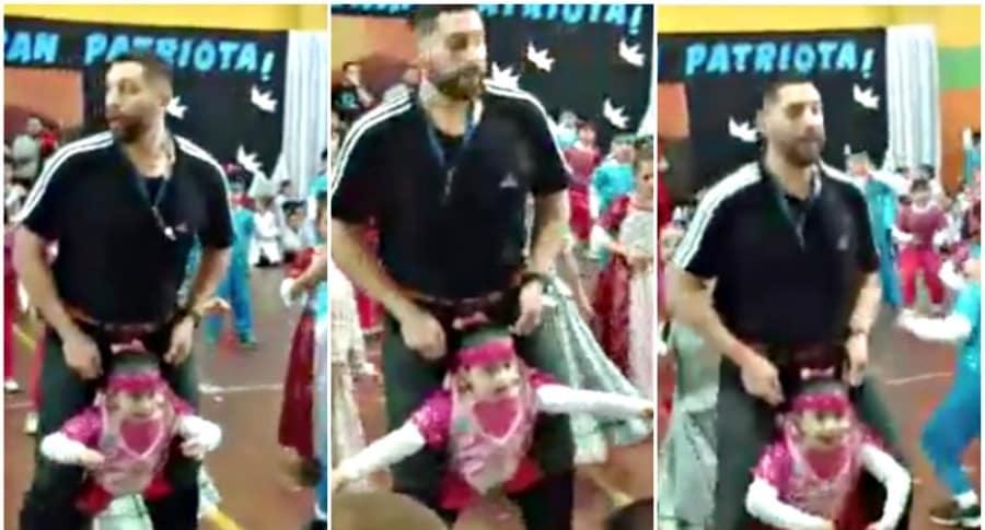 Profe baila con alumna discapacitada.