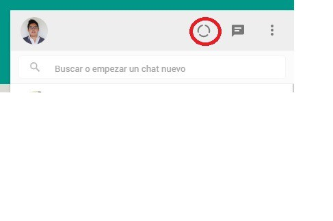 Estados en WhatsApp Web 2