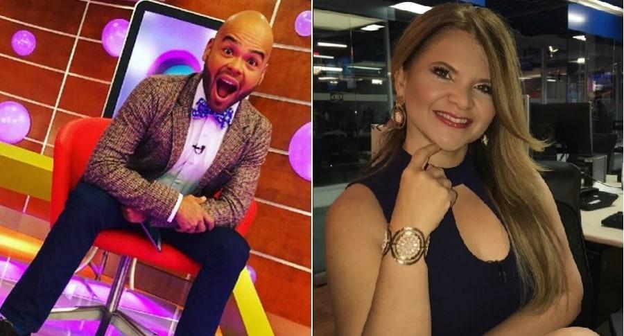 Carlos Vargas y Diva Jessurum, presentadores.