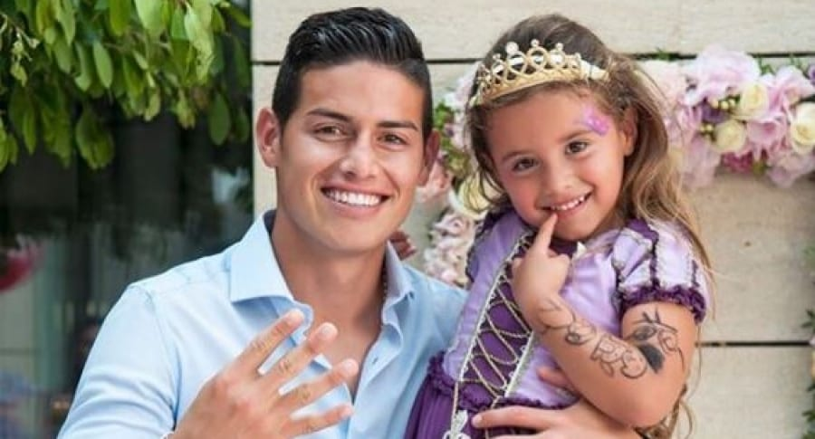 James Rodríguez y su hija Salomé