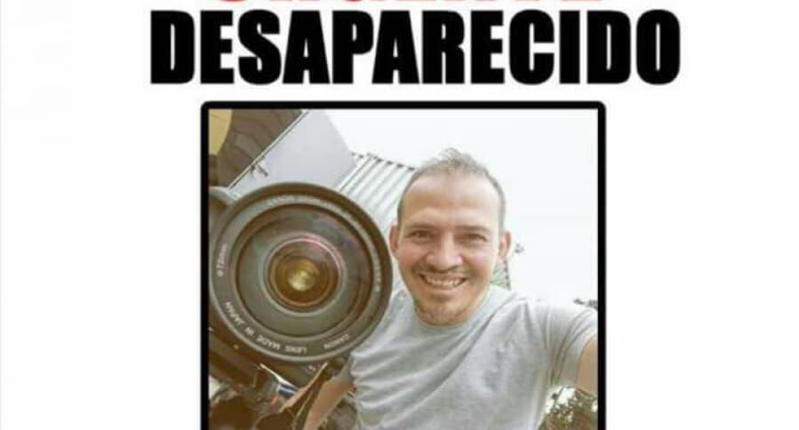 Cartel de desaparecido de Diego Andrés Pérez