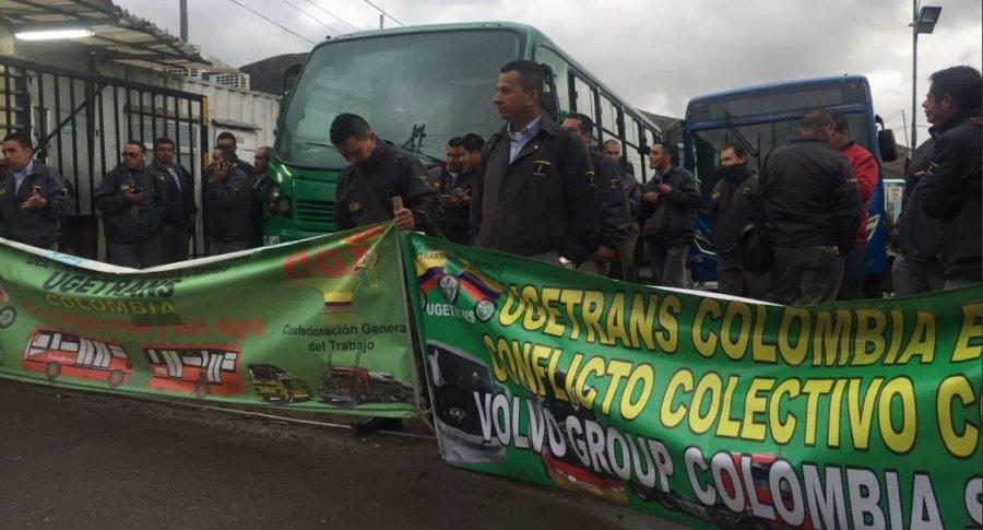 Protestas de conductores en Patio de Usme
