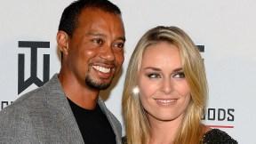 Tiger Woods y Lindsey Vonn