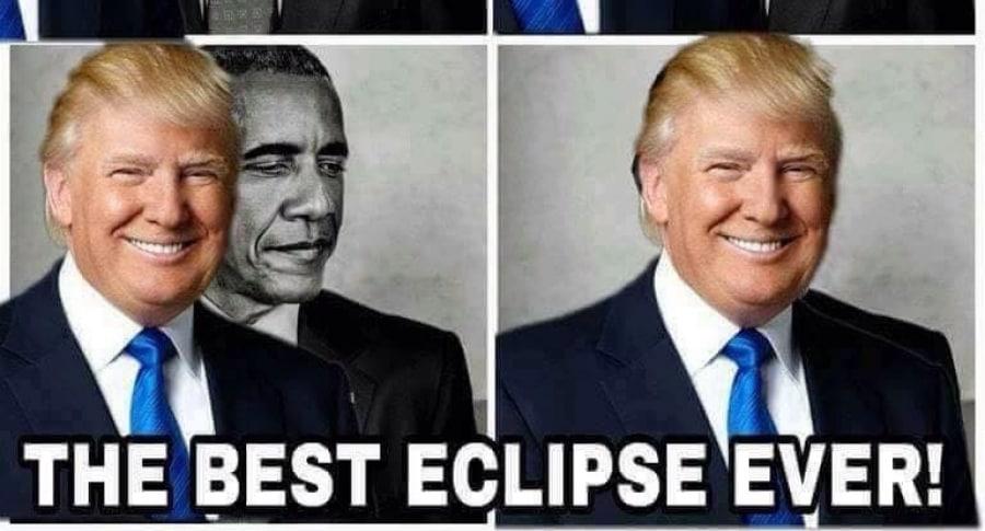 Meme del eclipse de Trump