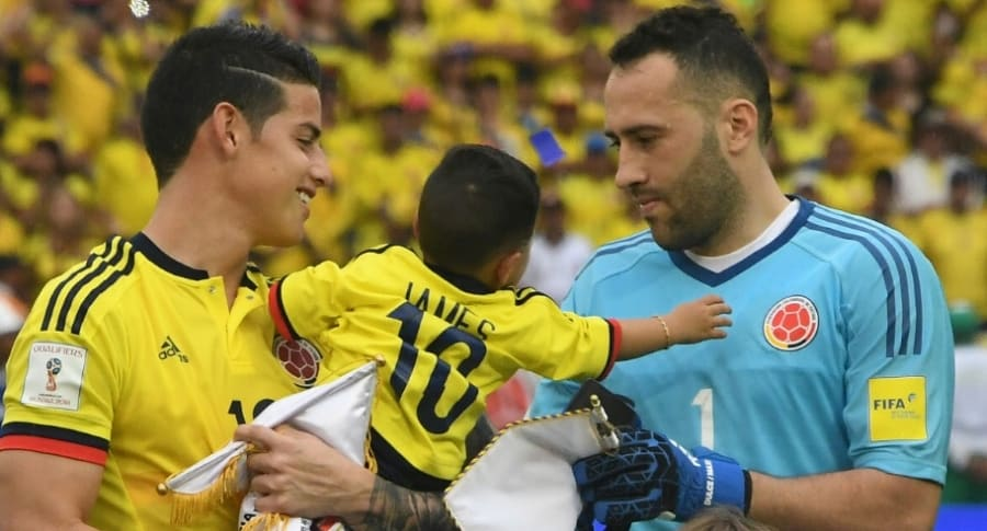 James Rodríguez y David Ospina