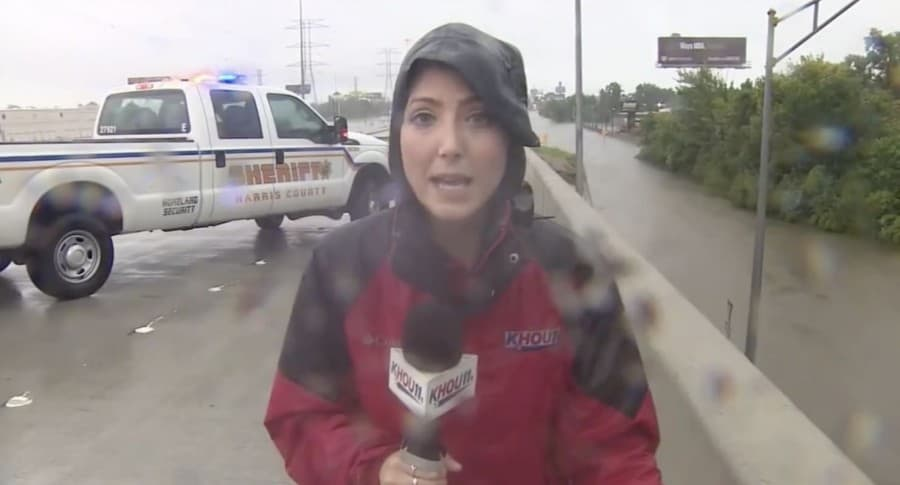Periodista Brandi Smith en Houston
