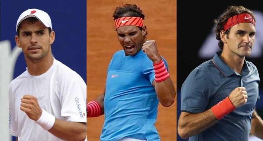 Giraldo, Nadal y Federer