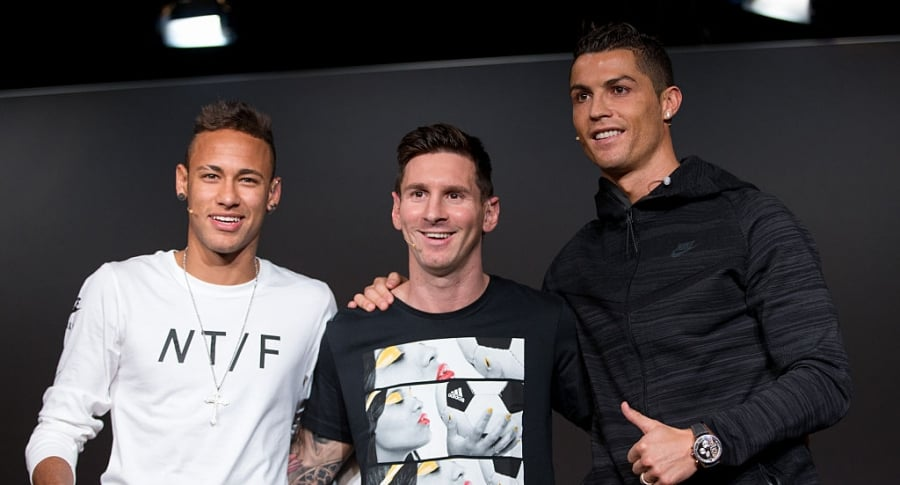 Neymar, Lionel Messi y Cristiano Ronaldo