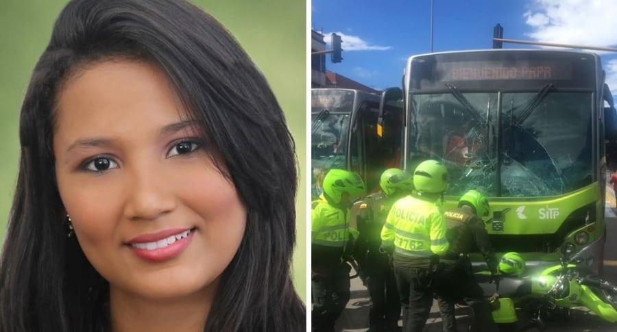 Paola Andrea Bahamón, patrullera que murió arrollada por Transmilenio