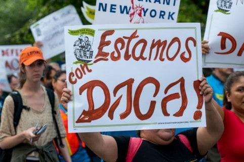Manifestación a favor del DACA en Nueva York