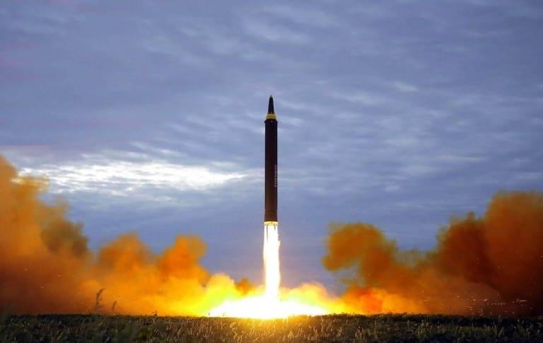 Misil que Corea del Norte lanzó sobre Japón.