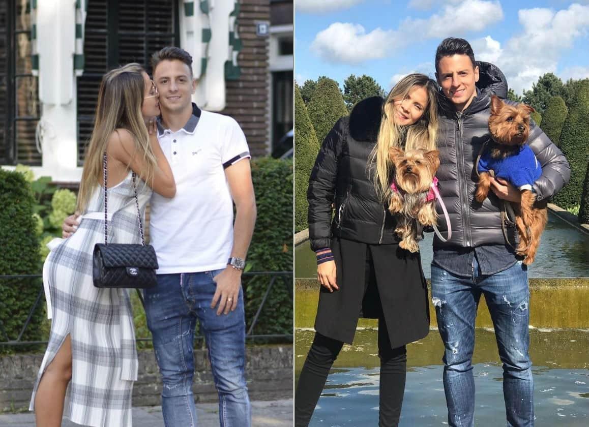Karin Jiménez, modelo, y su esposo Santiago Arias, futbolista de la Selección Colombia.