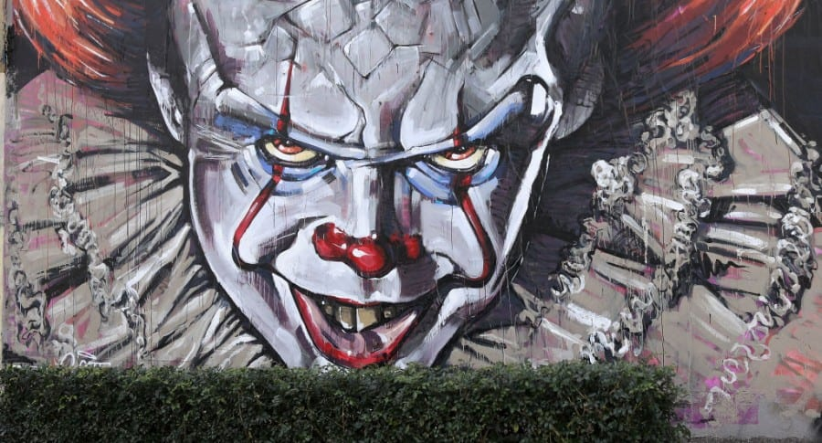 Mural del payaso Pennywise