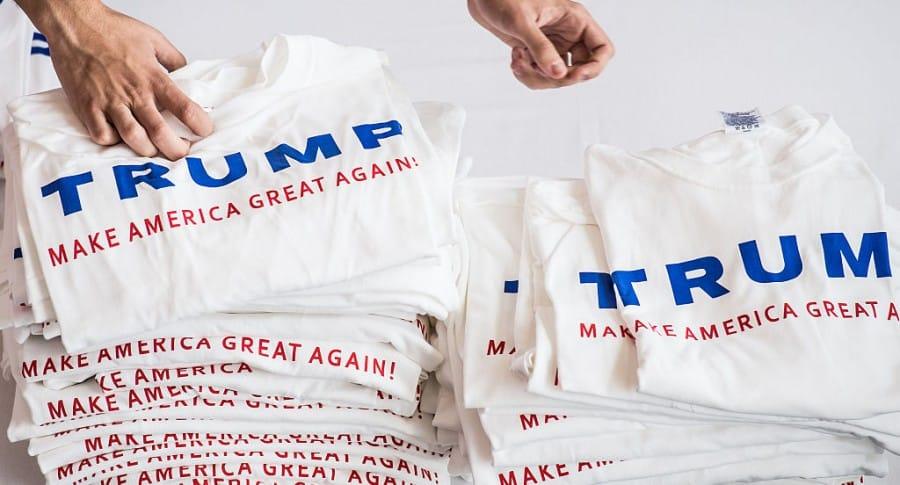 Camisetas con eslogan de Trump