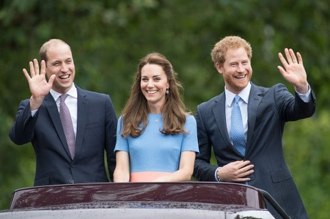 Príncipe William, Kate Middleton y príncipe Harry