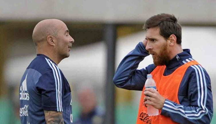 Sampaoli y Messi