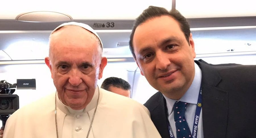 El papa Francisco y Jorge Alfredo Vargas