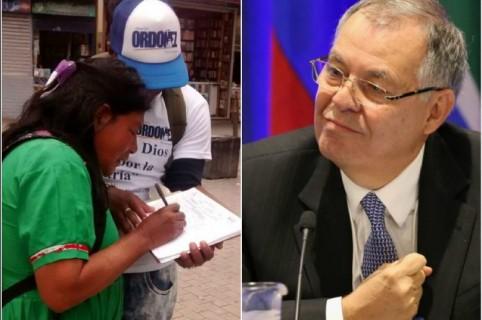 Firmas por Ordóñez
