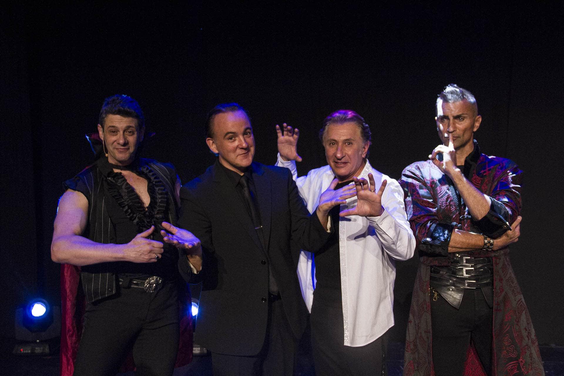 El Mago Merpin, Norbert Ferré, José Simhon y Aaron Crow