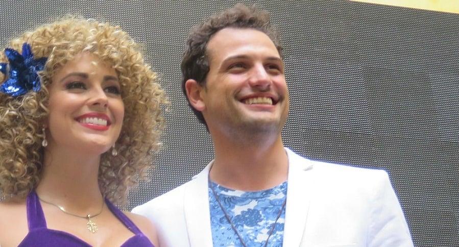 María Elisa Camargo y Roberto Urbina, actores