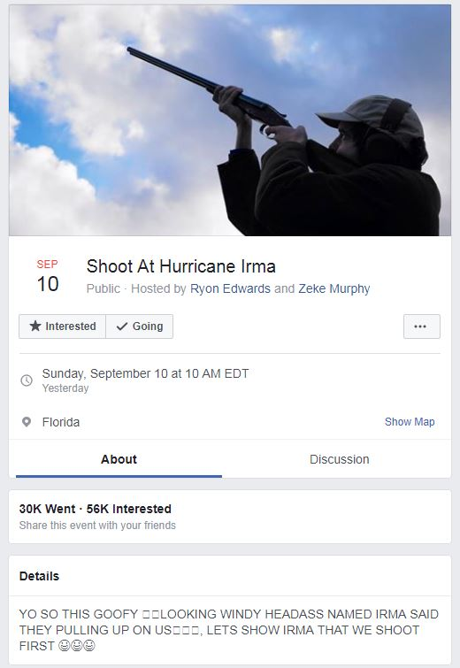 Shoot At Hurricane Irma