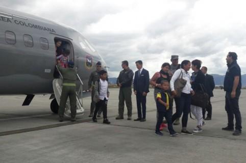 Llegada de colombianos al país