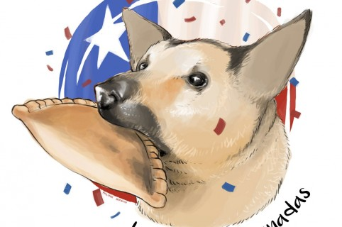 Perro ladrón de empanadas