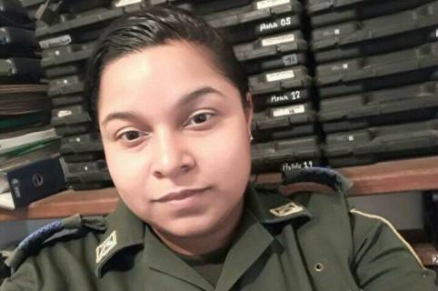 Patrullera  Ángela Ospino Villegas, quien se suicidió en Fonseca, La Guajira. Pulzo.